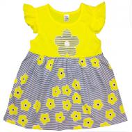 """10-13803 """"Летнее настроение"""" платье для девочки, 1-3 года, желтый"""