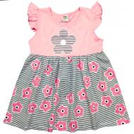 """10-13805 """"Летнее настроение"""" платье для девочки, 1-3 года, розовый"""