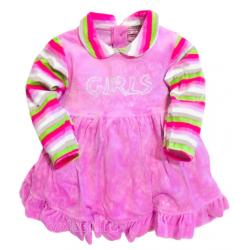 "10-13805 ""GIRLS"" Платье, велюровое, 1-3 года"