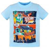 10-140105 Футболка для мальчика, 1-4 года, св-голубой