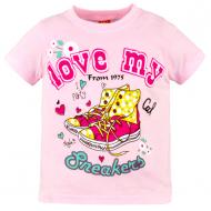 10-140204 Футболка для девочки, 1-4 года, розовый