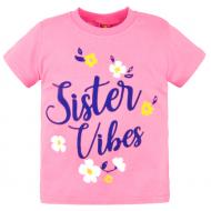 10-140205 Футболка для девочки, 1-4 года, розовый