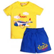 """10-142112 """"Sammer""""  Костюм для мальчика, 1-4 года, св.желтый\синий"""