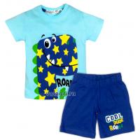 """10-142161 """"ROARRR"""" Комплект для мальчика, 1-4 года, бирюзовый\синий"""