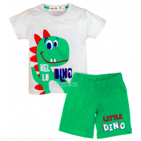 "10-142162 ""HELLO DINO"" Комплект для мальчика, 1-4 года, серый\зеленый"