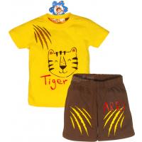 "10-142172 ""TIGER"" Комплект для мальчика, 1-4 года, желтый\кофейный"