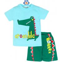 """10-142175 """"CROCODILE"""" Комплект для мальчика, 1-4 года, мята\зеленый"""