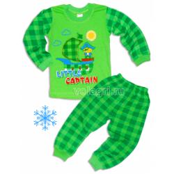 """10-148139 """"CAPITAN"""" Пижама с начесом, 1-4 года"""