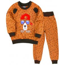 """10-148116 """"BEAR"""" Костюм для мальчика, 1-4 года, коричневый"""