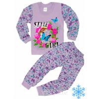 """10-148238 """"STYLE"""" Пижама с начесом, 1-4 года"""