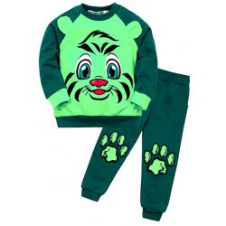"""10-148150 """"Мордашка"""" Костюм для мальчика, 1-4 года, зеленый"""