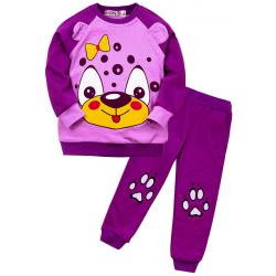 """10-148252 """"Мордашка"""" Костюм для девочки, 1-4 года, фиолетовый"""