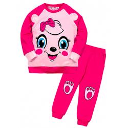 """10-148253 """"Мордашка"""" Костюм для девочки, 1-4 года, розовый"""