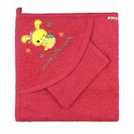 10-3304 Комплект для купания (полотенце+рукавичка), коралловый
