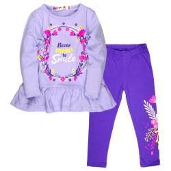 10-372234 Костюм для девочки, 3-7 лет, сиреневый\фиолетовый