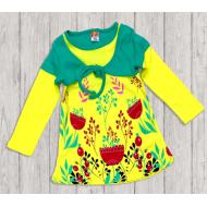 10-37801 Платье для девочки, 3-7 лет, желтый