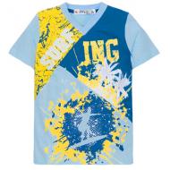 10-5610104 Футболка для мальчика, 6-10 лет, голубой