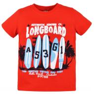 10-580106 Футболка для мальчика, 5-8 лет, красный
