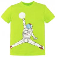 10-580106 Футболка для мальчика, 5-8 лет, салатовый