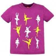 10-580208 Футболка для девочки, 5-8 лет, фиолетовый