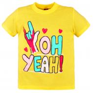 10-580208 Футболка для девочки, 5-8 лет, желтый