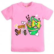 10-580211 Футболка для девочки, 5-8 лет, розовый
