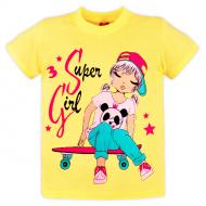 10-580221 Футболка для девочки, 5-8 лет, желтый