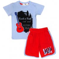 """10-582183 """"ROCK`n ROLL"""" Комплект для мальчика, 5-8 лет, голубой\красный"""