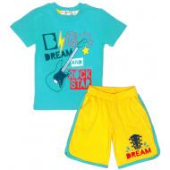 """10-582185 """"BIG DREAM"""" Комплект для мальчика, 5-8 лет, бирюзовый\желтый"""