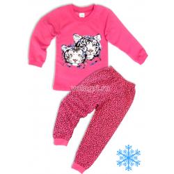"""10-588229 """"TIGER"""" Пижама с начесом, 5-8 лет, розовый"""