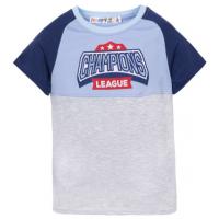 10-7120201 Футболка для мальчика, 7-12 лет, голубой\серый