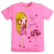 10-9120204 Футболка для девочки, 9-12 лет, розовый