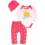 102-0924 Комплект для малышки, 62-80, розовый\коралл