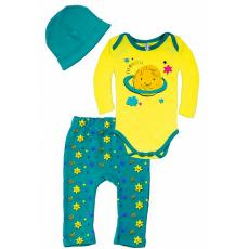 102-0923 Комплект для малышей, 62-80, желтый\ментоловый