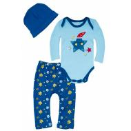 102-0922 Комплект для малышей, 62-80, голубой\синий