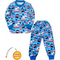 """09-25801""""ЛАПЛАНДИЯ"""" Пижама для мальчика, 2-5 лет, голубой"""