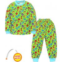 """09-25802 """"ДИНОЗАВРИКИ"""" Пижама для мальчика, 2-5 лет, салатовый"""