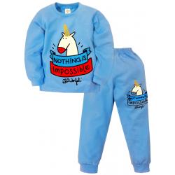 09-588105 Пижама для мальчика, 5-8 лет, голубой