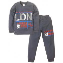 09-588106 Пижама для мальчика, 5-8 лет, графит