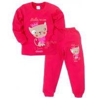 09-588202 Пижама для девочки, 5-8 лет, малиновый