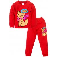 09-588207 Пижама для девочки, 5-8 лет, красный