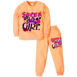 09-588209 Пижама для девочки, 5-8 лет, персиковый
