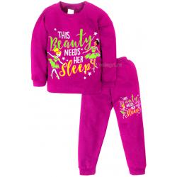 09-588210 Пижама для девочки, 5-8 лет, сливовый
