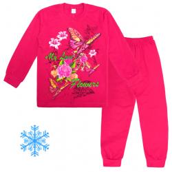 "101-9128201 ""FLOWER"" Пижама с начесом, 9-12 лет"