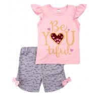 11-582205 Костюм для девочки, 5-8 лет, розовый