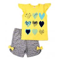 11-582203 Костюм для девочки, 5-8 лет, желтый