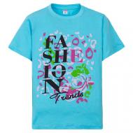 "11-10130299 ""Beautiful"" футболка для девочек, 10-13 лет, бирюза"
