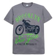 "11-10130113 ""Brooklyn"" футболка для мальчиков, 10-13 лет, серый"