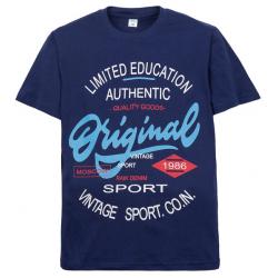 """11-10130114 """"Authentic"""" футболка для мальчиков, 10-13 лет, синий"""