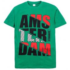 """11-10130110 """"Amsterdam"""" футболка для мальчиков, 10-13 лет, изумруд"""